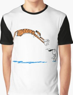 Hobbes And Snoopy Graphic T-Shirt