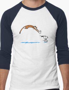 Hobbes And Snoopy Men's Baseball ¾ T-Shirt