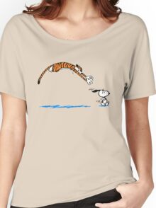 Hobbes And Snoopy Women's Relaxed Fit T-Shirt