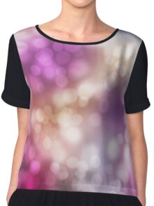 Bokeh Lights Print  Chiffon Top