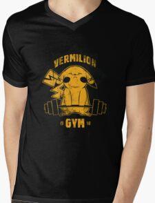 Vermilion Gym Mens V-Neck T-Shirt