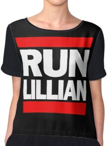 Unbreakable Kimmy Schmidt Inspired Rap Mashup - RUN Lillian - UKS Shirt - Females are Strong as Hell Parody Shirt Chiffon Top