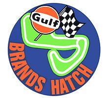 Gulf Brand s Hatch Circuit Logo decal by kustom