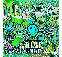 Tulane Collage Photographic Print
