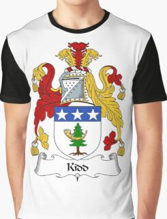 Kidd Coat of Arms / Kidd Family Crest Graphic T-Shirt
