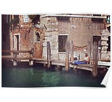 Reading Hour in Venice Poster