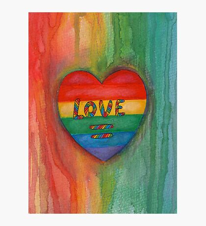 Love Is Equal Drawing Photographic Print