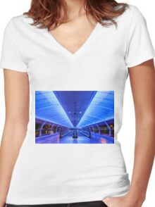 Manchester Airport Women's Fitted V-Neck T-Shirt