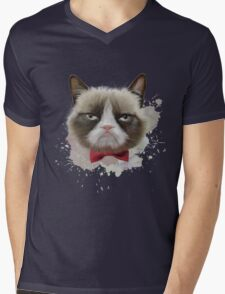 Cat with bow tie Mens V-Neck T-Shirt