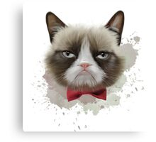 Cat with bow tie Canvas Print