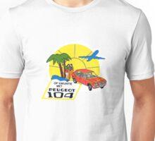 Vintage Peugeot 104 car decal Unisex T-Shirt