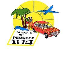 Vintage Peugeot 104 car decal by kustom