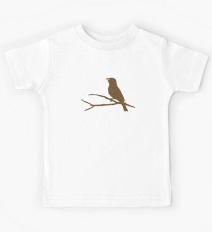 Brown Bird Silhouette Kids Tee