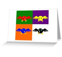 Complementary Birds Greeting Card