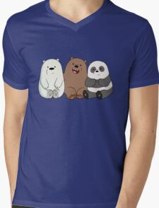Baby Bears Mens V-Neck T-Shirt