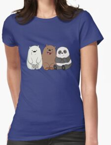 Baby Bears Womens Fitted T-Shirt