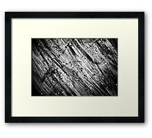 Black and White Paint (Texture) Framed Print