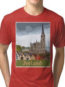 Ireland Travel Poster Tri-blend T-Shirt