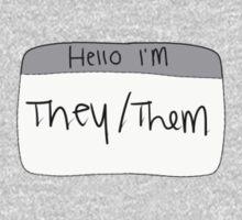 Hello I'm They/Them Kids Tee