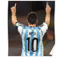 Leo Messi - Poster - Poly Art - Argentina Poster