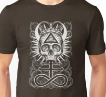Illuminati Skull and Sulphuric Cross Unisex T-Shirt