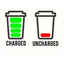 CHARGED - UNCHARGED Art Print