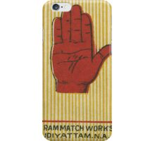 India Match Box Art - Hand iPhone Case/Skin