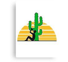 drinking beer drinking drink alcohol drunk party goad desert sun sunset sunrise big cactus desert Canvas Print