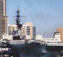 USS Midway ~ San Diego Bay, California ~ USA Sticker