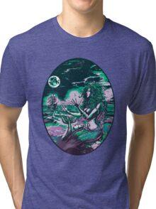 Mermaid Siren Sea Pearl Atlantis Tri-blend T-Shirt