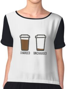 CHARGED UNCHARGED COFFEE Chiffon Top