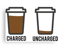 CHARGED UNCHARGED COFFEE Canvas Print