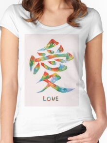 Rainbow Love Watercolor  Women's Fitted Scoop T-Shirt