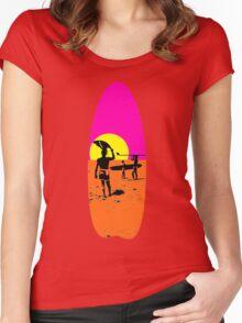 ENDLESS SUMMER SURFBOARD Women's Fitted Scoop T-Shirt