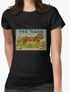 The Tiger Safety Matches Womens Fitted T-Shirt