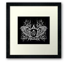 Gracie Jiu Jitsu BJJ (White) Framed Print