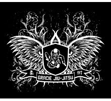 Gracie Jiu Jitsu BJJ (White) Photographic Print