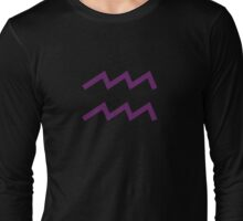 Homestuck Inspired: Aquarius Symbol Long Sleeve T-Shirt