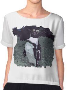 Killing it - Penguin Chiffon Top