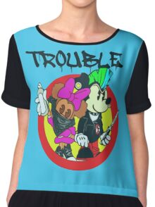 Here Comes Trouble Chiffon Top