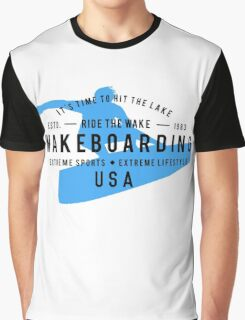 Ride The Wake Wakeboarding Graphic T-Shirt