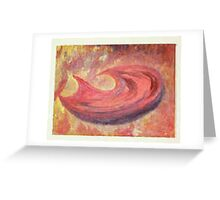 Hunger - Abstract / Symbolic Oil Painting Greeting Card
