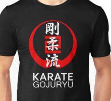 Gojuryu Karate Symbol and Kanji White text Unisex T-Shirt