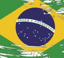 Brazil Flag Brush Splatter Sticker