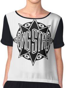 Gang Starr Logo Chiffon Top