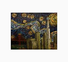 Dedication to Van Gogh: San Francisco Starry Night Unisex T-Shirt