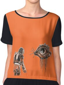 Retro Alien Encounter Chiffon Top