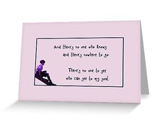 No one to see Greeting Card