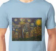 "Dedication to Van Gogh ""Seattle Starry Night"" (2015) Unisex T-Shirt"