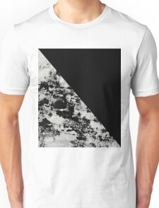 Diagonal Black - Block black and black and white abstract Unisex T-Shirt